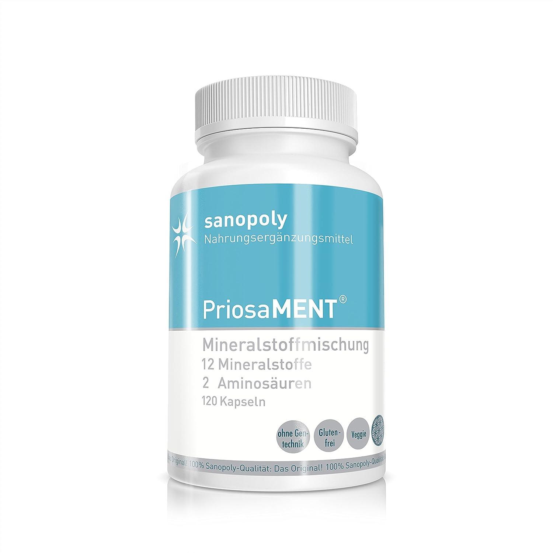 Mezcla de minerales todo en uno para los músculos y el metabolismo || PriosaMENT® | la fórmula perfecta 12 minerales y 2 aminoácidos | calidad probada y ...