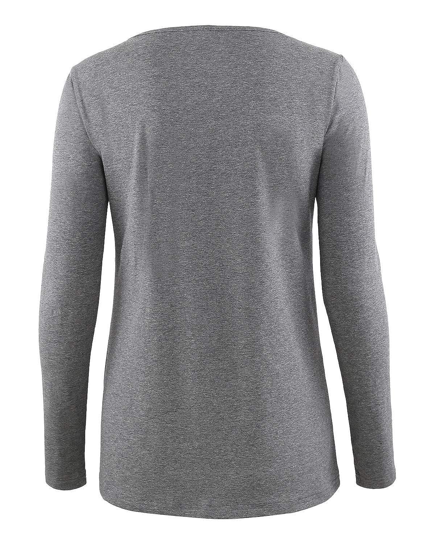 Liu /& Qu Womens Nursing Top Long Sleeve Breastfeeding Shirt Round Neck Layered Clothes