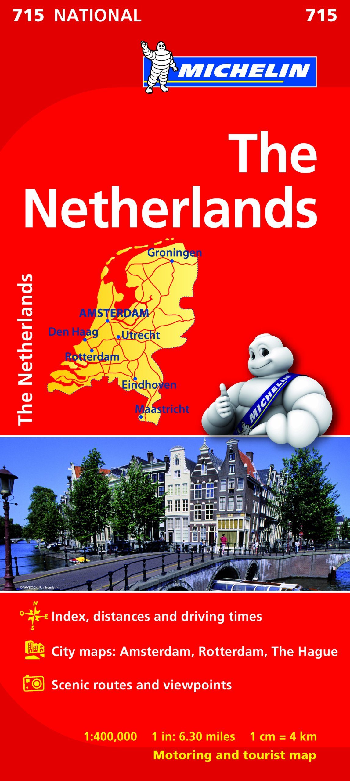 The Netherlands NATIONAL Map Michelin National Map Amazoncouk