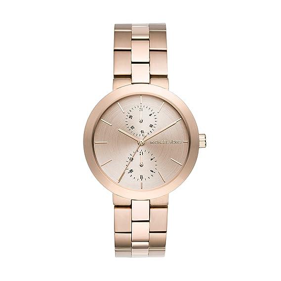Michael Kors Reloj Mujer de Analogico con Correa en Chapado en Acero Inoxidable MK6409: Amazon.es: Relojes