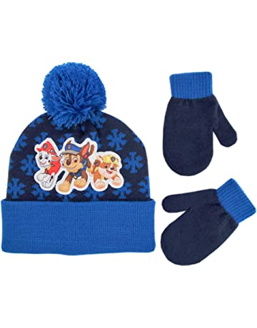 acaf1271b9272 Nickelodeon Boys  Toddler Paw Patrol Beanie Hat and Mittens Cold Weather  Set