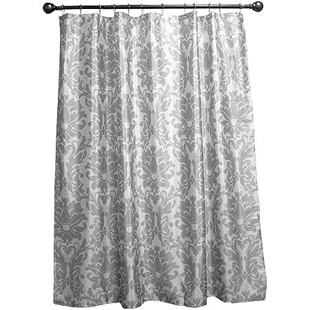 Royal Velvet Silver Damask Shower Curtain Multi