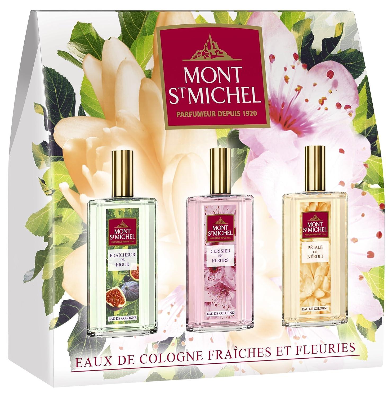 Mont Saint Michel Cofanetto Scoperta 3acque di Colonia fresche/fiorite Spray 2303691