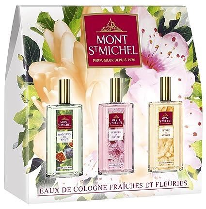 Mont Saint Michel estuche descubrimiento 3 agua de colonia fresca/fleuries Spray