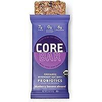 CORE Foods Organic Overnight Oat Bar + Probiotics, Gluten Free, non-GMO, Vegan, Kosher, Prebiotics, Blueberry Banana Almond, 2 oz, 16 Refrigerated Bars