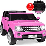 Best Choice Products Kids 12V 2-Seater Licensed Land Rover Ride On w/ RC, Lights/Sounds, MP3 - Pink