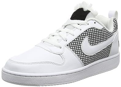 Nike Damen Court Borough Mid Se Basketballschuhe, Weiß (White/Black), 36 EU