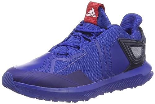 new styles fb9d4 008ef adidas RapidaRun Spider-Man K, Scarpe da Fitness Unisex-Bambini, Blu (
