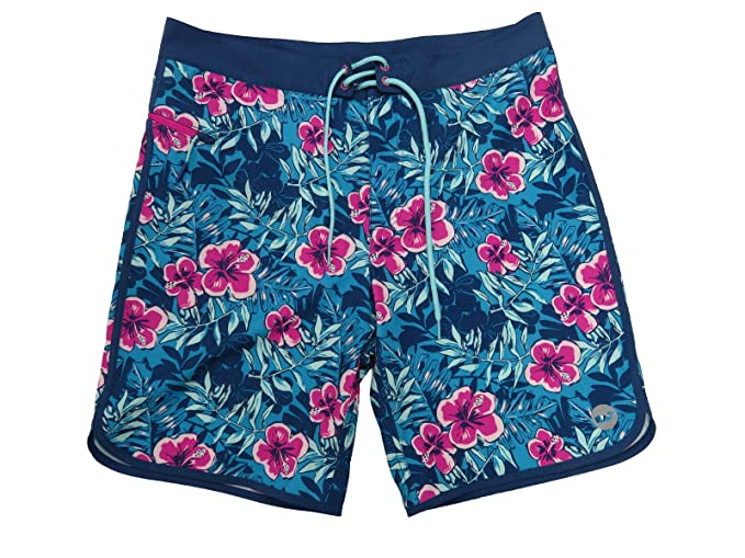 3a887072594972 Vineyard Vines Men Ocean Floral Caribbean Blue Swim Board Shorts (36)