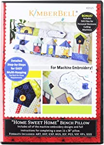 Kimberbell Home Sweet Home Bench Pillow Machine Embroidery CD KD525