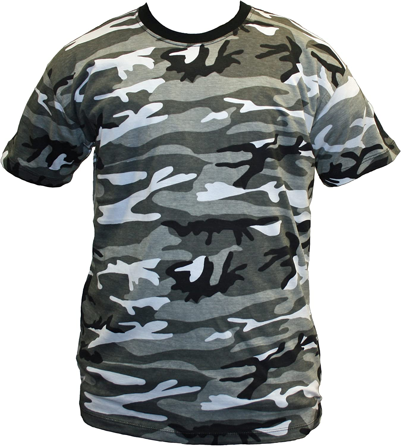 Dallaswear Adults Camo Army Cargo Combat Military T-Shirt S-5XL 8 Colours!