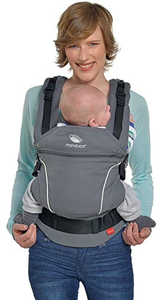 3.5 up to 20 kg Made in Europe PureCotton, Mint Front, Hip /& Back manduca First Baby Carrier  Pure Cotton  Adjustable /& Versatile Baby Carrier from Newborn to Toddler 3-Position