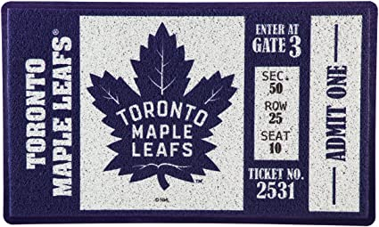 Multicolor Team Sports America 41EM4376 Toronto Maple Leafs Embossed Door Mat