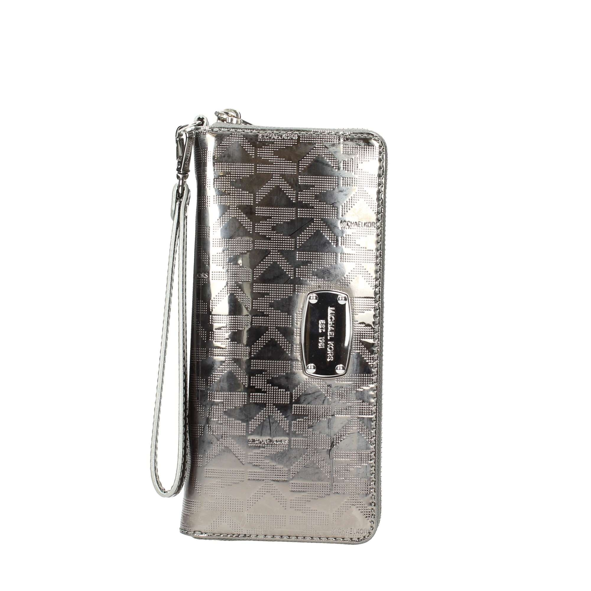 Michael Kors Jet Set Travel Continental ZA Wallet 35S6MJSZ7Z Mirror Nickel by Michael Kors