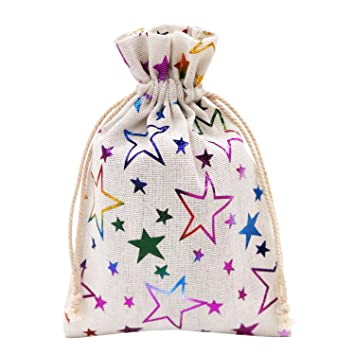 Amazon.com: SumDirect - Bolsas de regalo de arpillera con ...