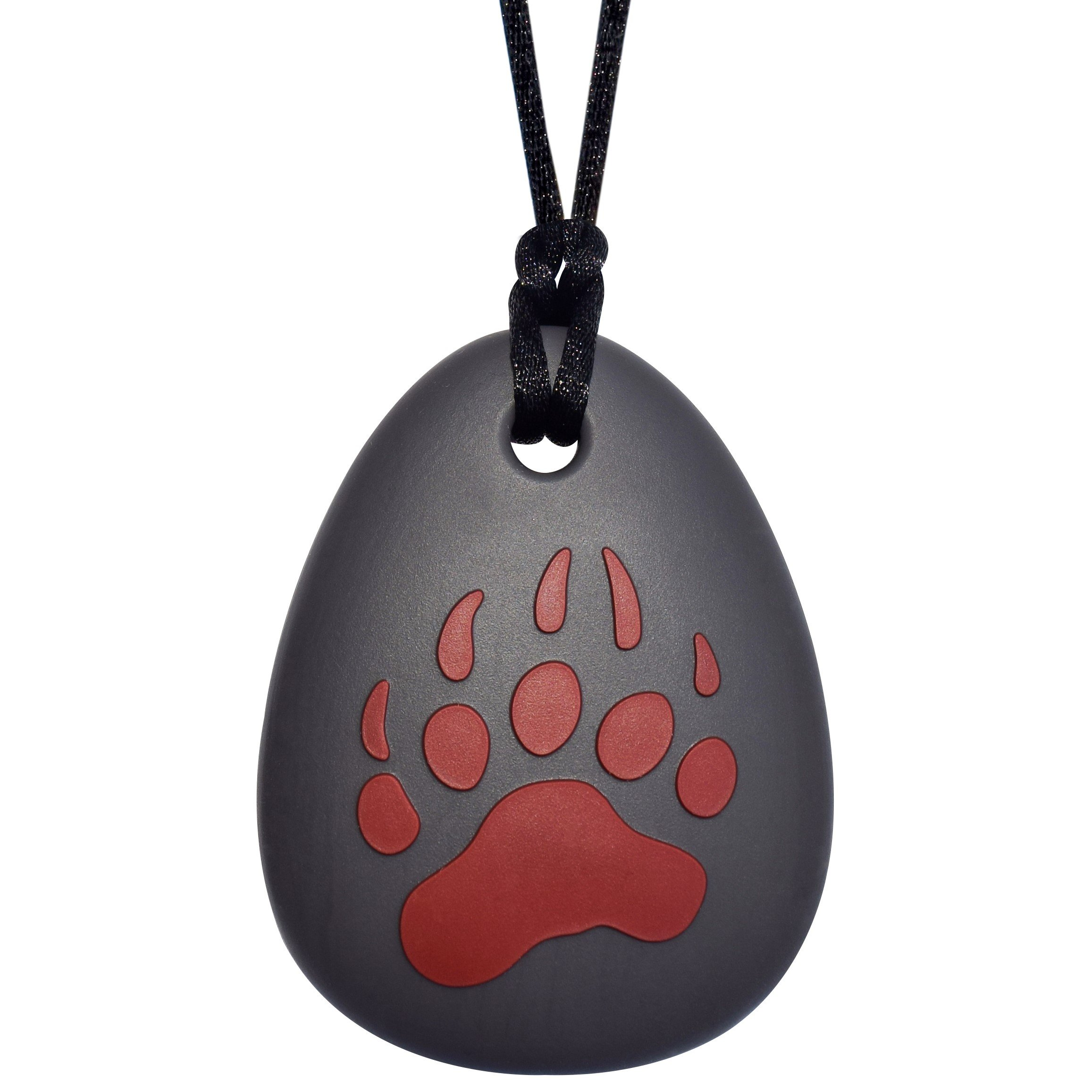 Sensory Oral Motor Aide Chewelry - Henna Red Bear Claw Chew Necklace for Sensory-Focused Kids