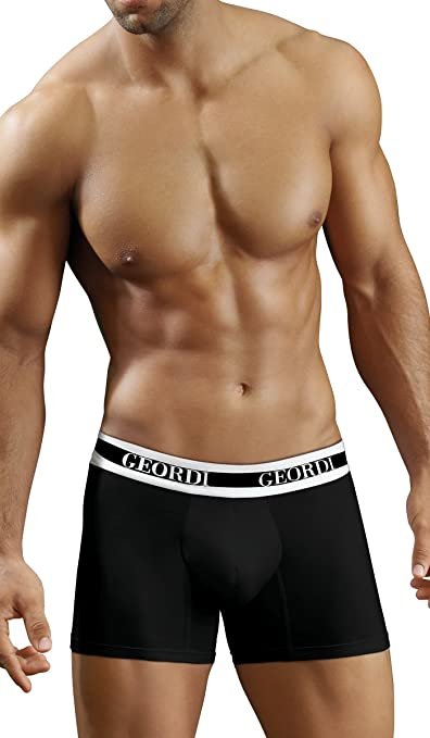 Diane & Geordi 5172 Men Underwear Boxer Ropa Interior Hombre Black XL at Amazon Mens Clothing store: