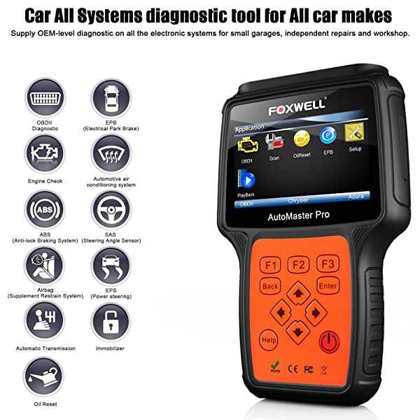 FOXWELL NT624 PRO is a car all systems diagnostic tool for all car makes