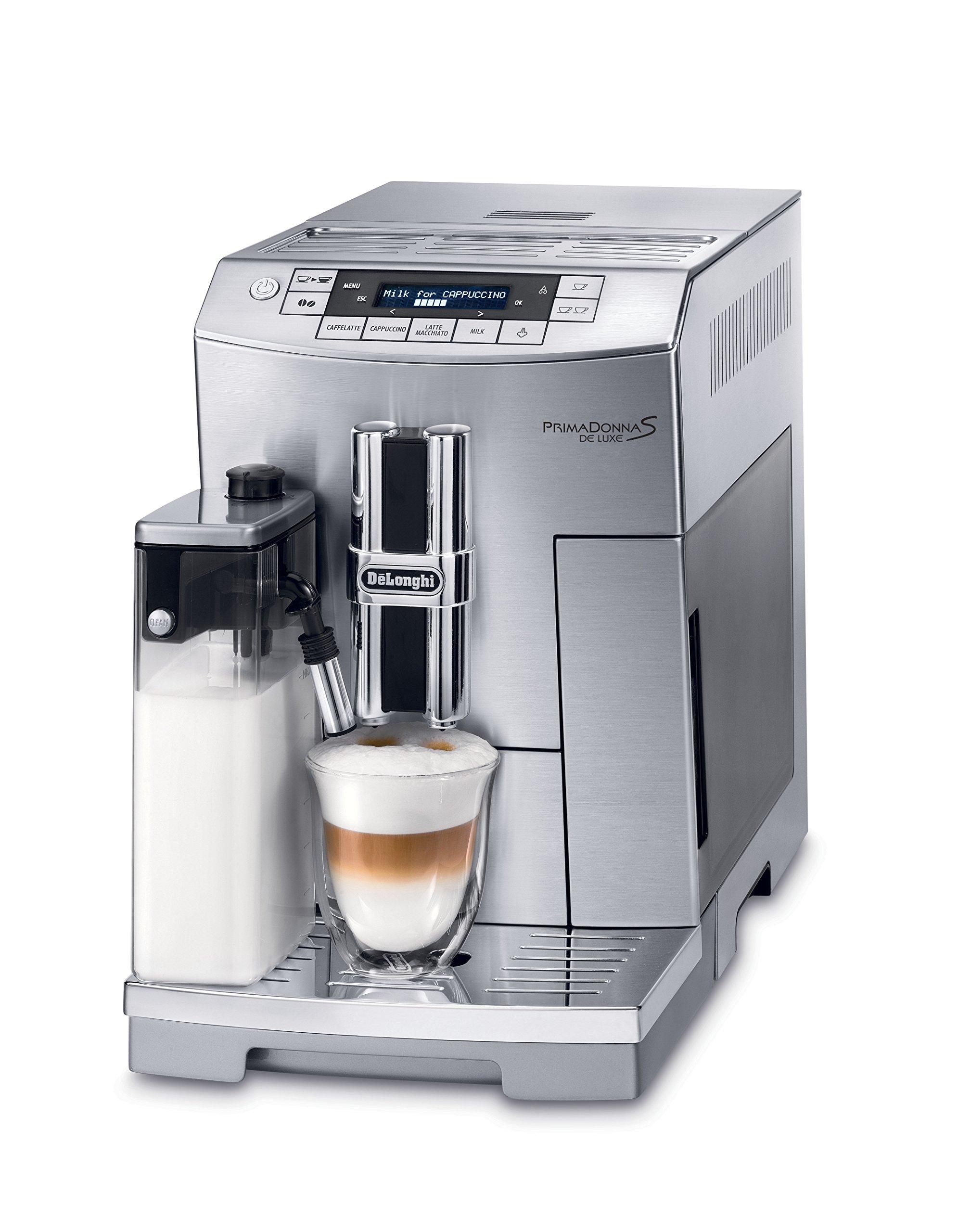 DeLonghi ECAM26455M Prima Donna S DeLuxe Super Automatic Espresso Machine (Certified Refurbished)