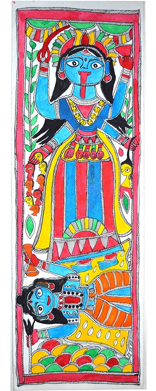 Royal Handicrafts Traditional Madhubani Painting Depicting 'Goddess Kali'