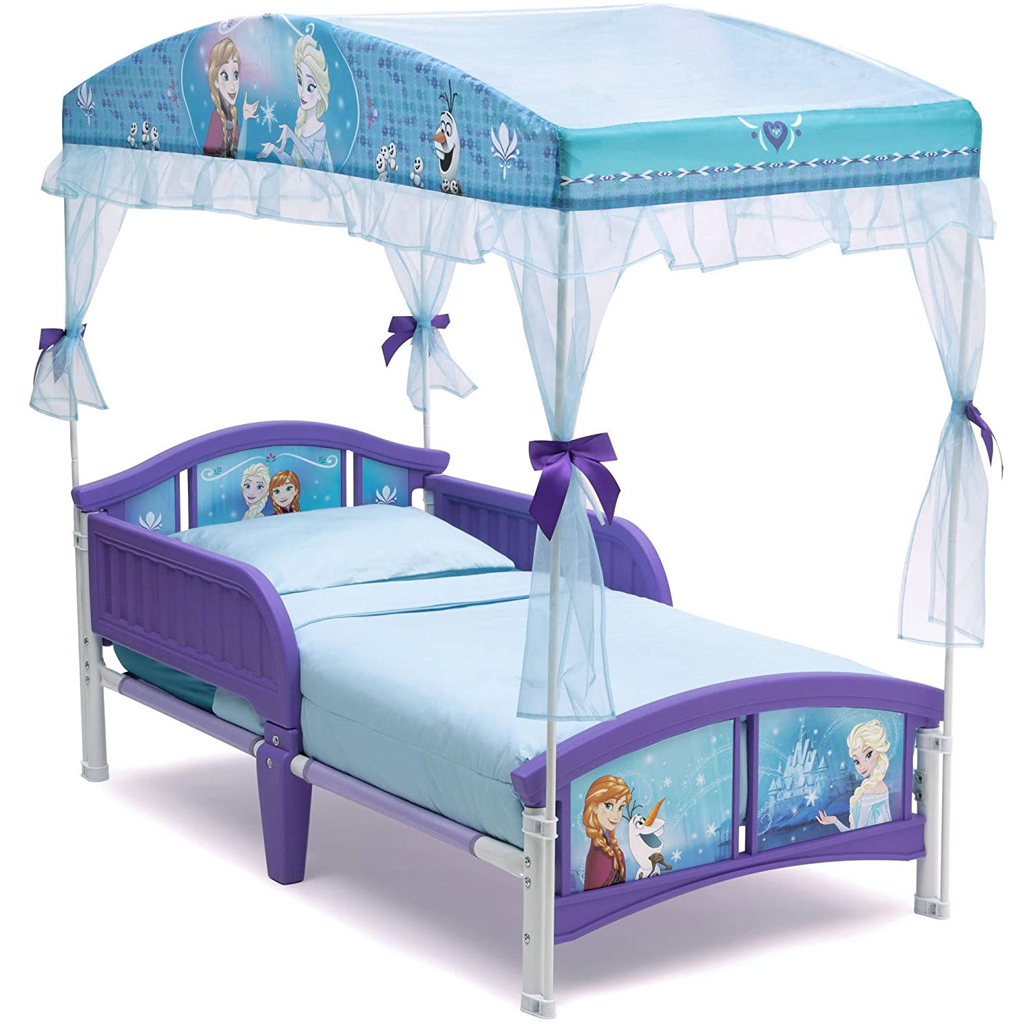 - Disney Frozen Toddler Bed Canopy Anna Elsa Olaf Kids Girls Delta