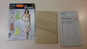 Simplicity Pattern 2649 Misses' Sleeveless Summer Dress Sizes 8-18