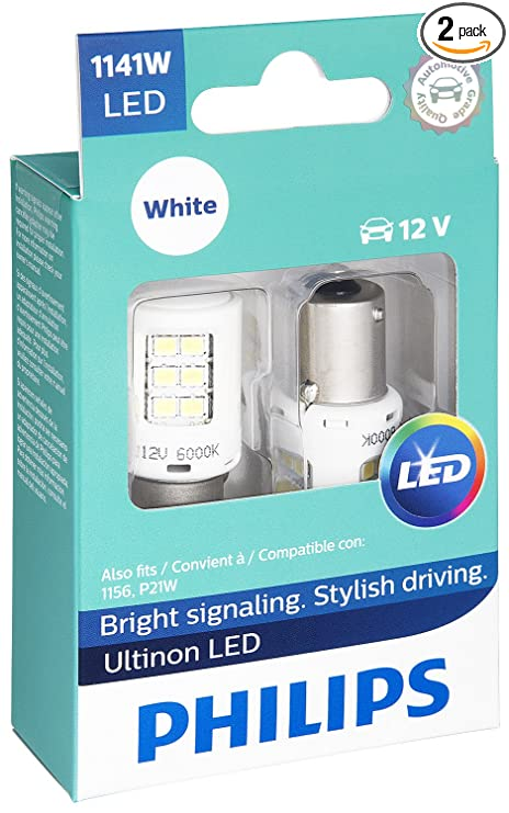 Philips 1141 Ultinon LED Bulb (White), 2 Pack