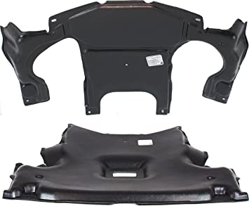 Chassis Engine Splash Shield Compatible with MERCEDES BENZ C-Class 2001-2007 Set of 2 Under Cover Front and Rear 203