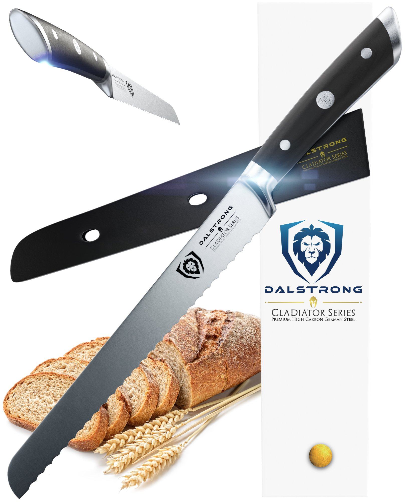 DALSTRONG Bread Knife - Gladiator Series - German HC Steel - 10'' (254 mm) by Dalstrong
