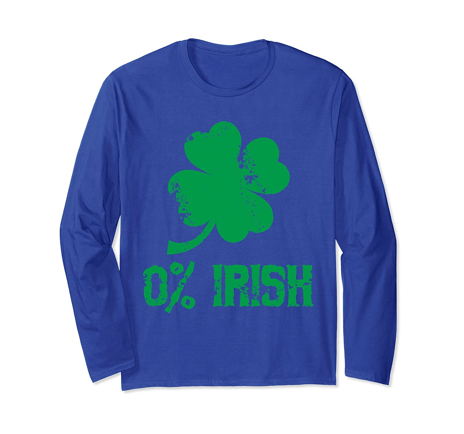0% Irish Long Sleeve Shirt - Funny St Patrick's Day Shirt-alottee gift