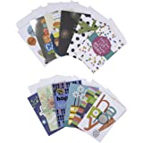 Hallmark Handmade Assorted Birthday Greeting Cards Box Set Pack Of 12 With Envelopes Included