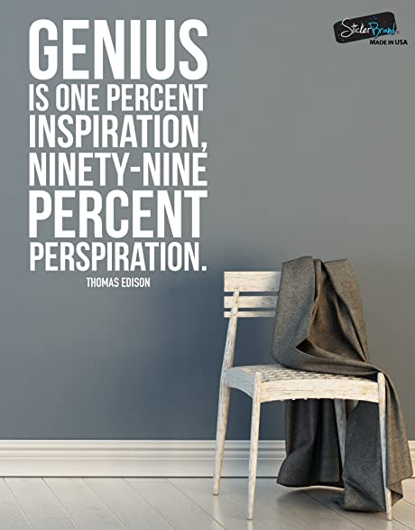 Amazon.com: Thomas Edison Quote: Genius is One Percent Inspiration ...