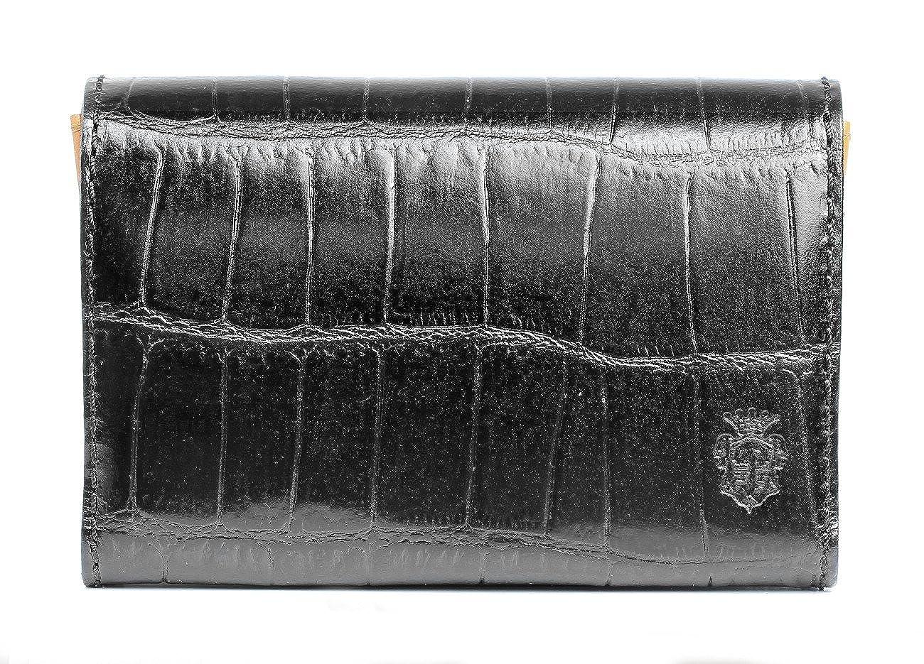 [フェリージ]Felisi カードケース 名刺入れ 二つ折り イタリア製 高級牛革 レザー クロコダイル型押し メンズ [並行輸入品]  ブラック B0168BTWKS