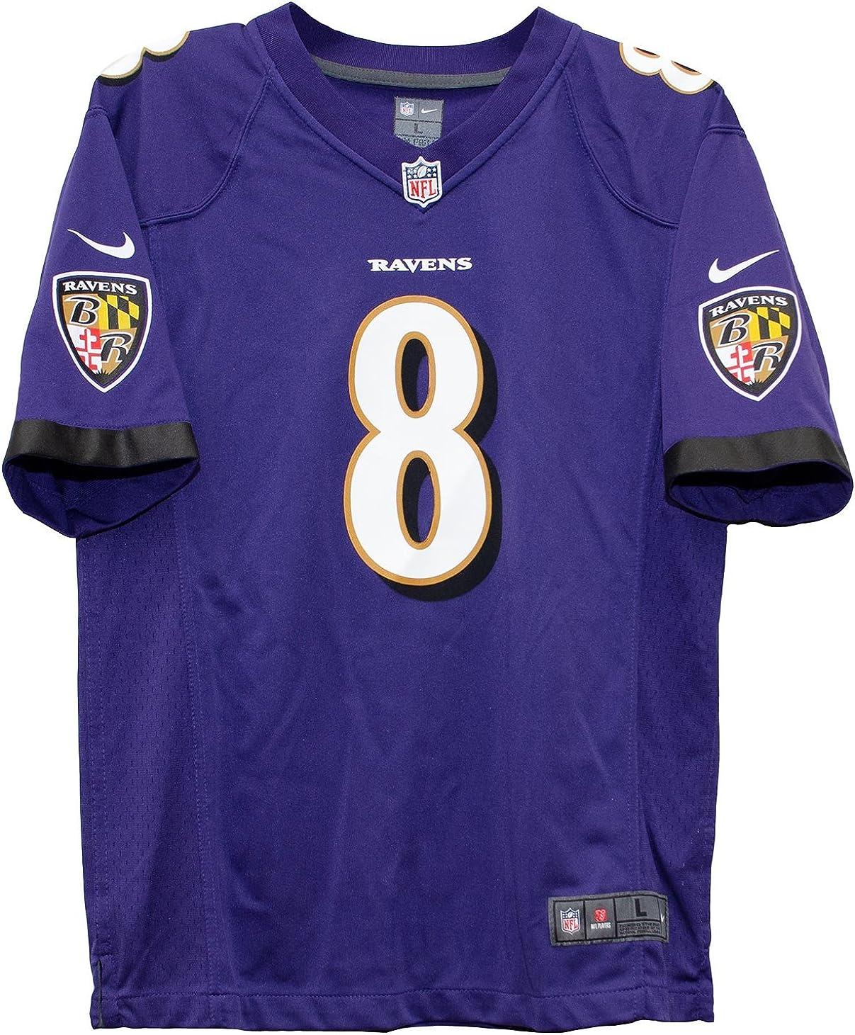 Amazon.com : Nike Lamar Jackson Baltimore Ravens Youth Boys Game ...