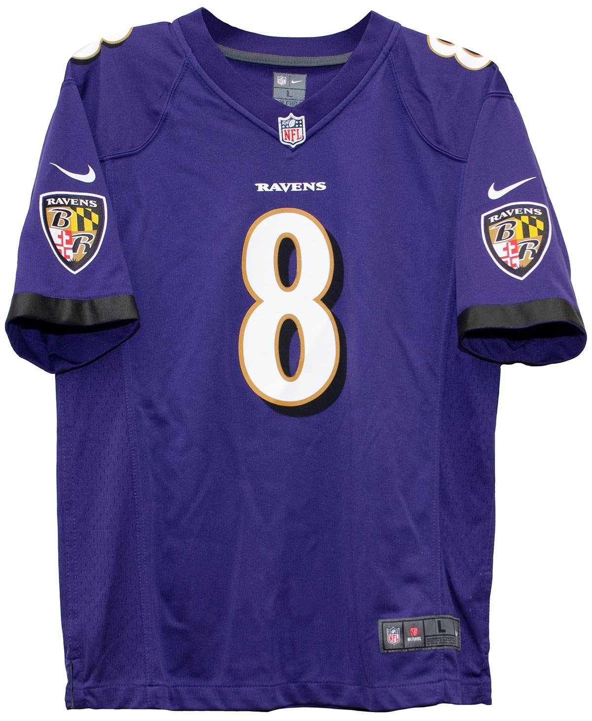 promo code 24a96 39614 Nike Lamar Jackson Baltimore Ravens Team Color Youth Game Jersey