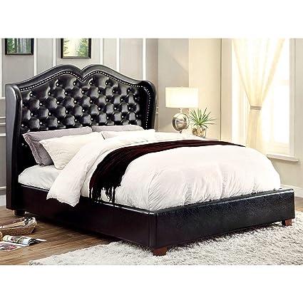 Amazon.com: Furniture of America Roselie 3-Piece Black ...