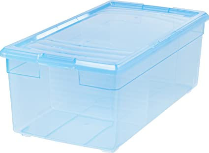 Delicieux IRIS Media Storage Box, 6 Pack, Blue