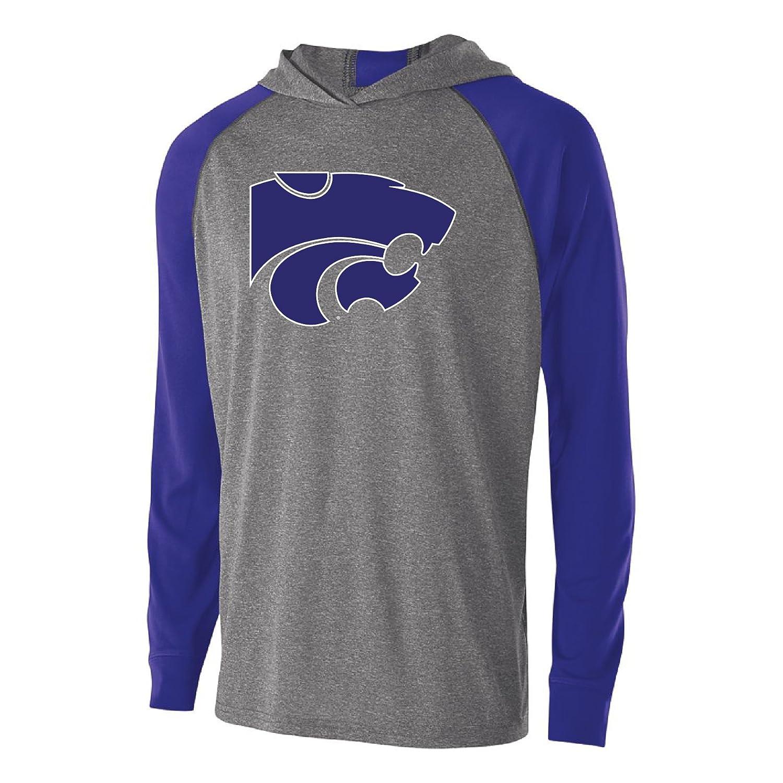 Medium Ouray Sportswear NCAA Kansas State Wildcats Mens Echo Hoodie Graphite//Purple