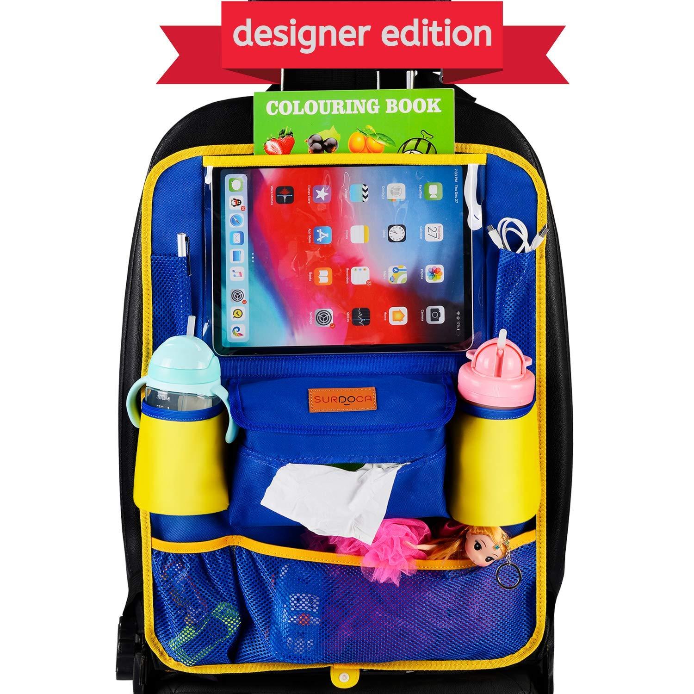 SURDOCA Organizer Sedile Auto 12,9//11 e iPad di Dimensioni pi/ù ridotte Edizione Esclusiva per progettisti includono Tasca portapenne per Apple Senza PVC Organizer Auto Bambini