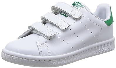 adidas originali stan smith di pelle verde e bianco /
