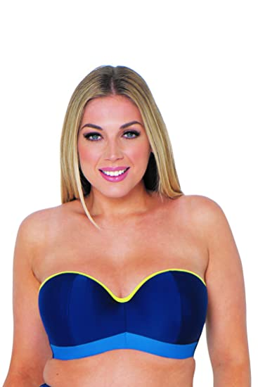 b0dcab056e659 Curvy Kate Maya Bandeau Bikini Blue Mix 34DD: Amazon.co.uk: Clothing