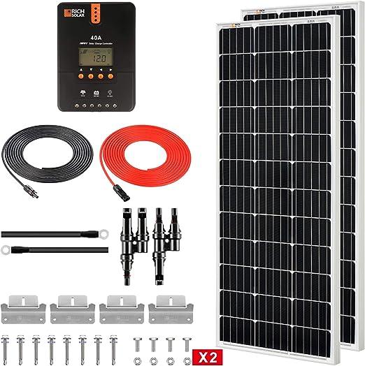 Rich Solar 200 Watt 12 Volt Solar Starter Kit