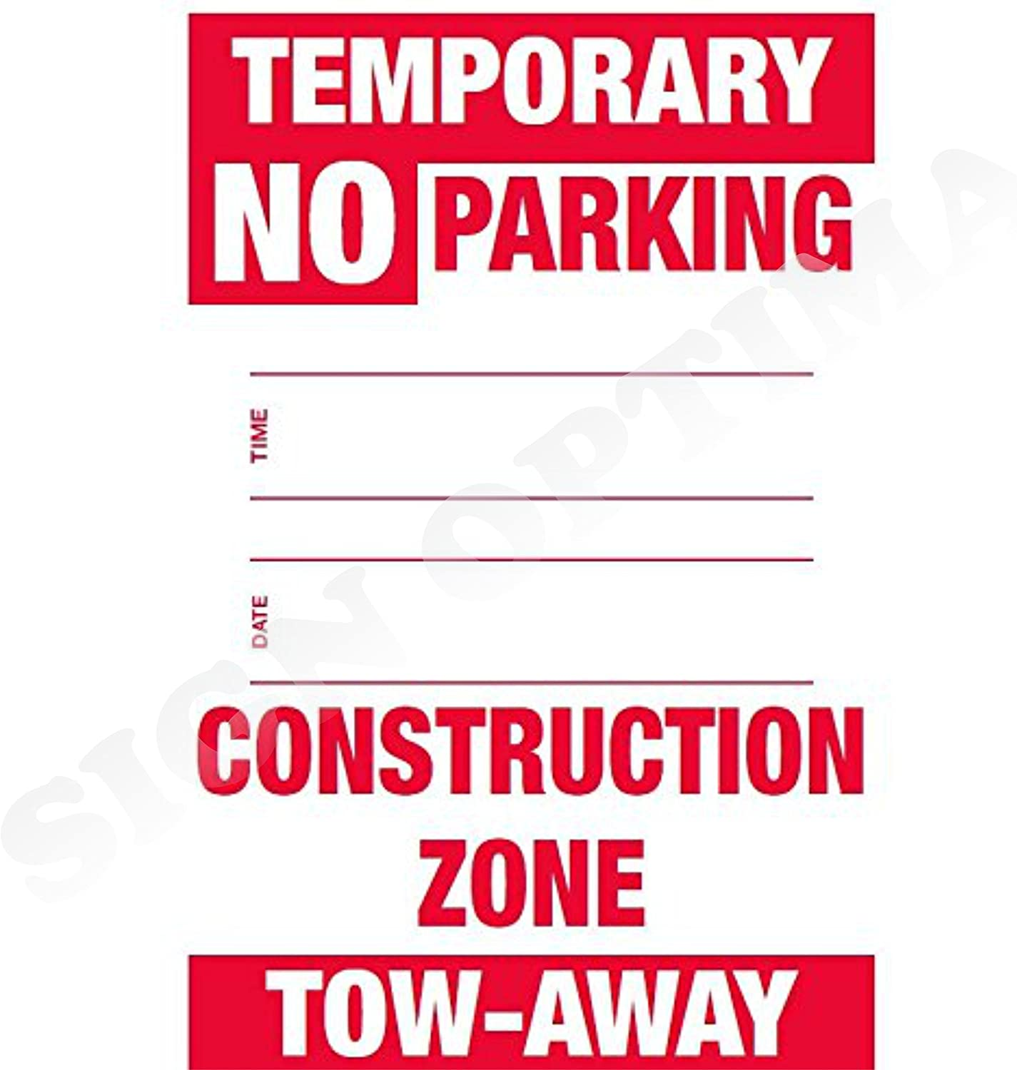 - Amazon.com: Pack Of 2 Temporary NO Parking Sign With Date And Time