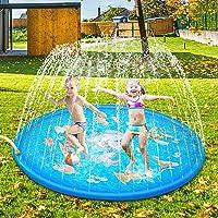 Sooair Splash Pad Splash Splash Splash Splash Splash Mat, Outdoor Zomer Tuin Waterspeelgoed voor baby's en kinderen…