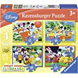 Disney - 4 en 1 Club House Mickey Mouse Puzzle