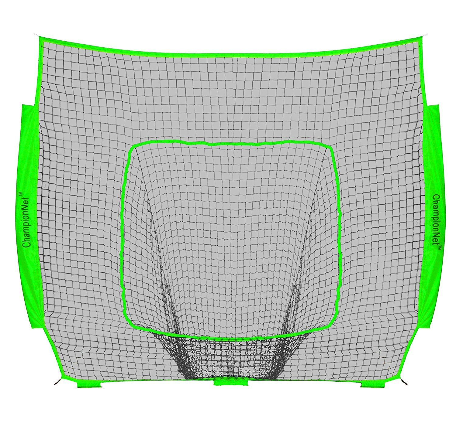 ChampionNet Baseball/Softball 7' x 7' Hitting Net Replacement NO Frame - Lime Green by ChampionNet