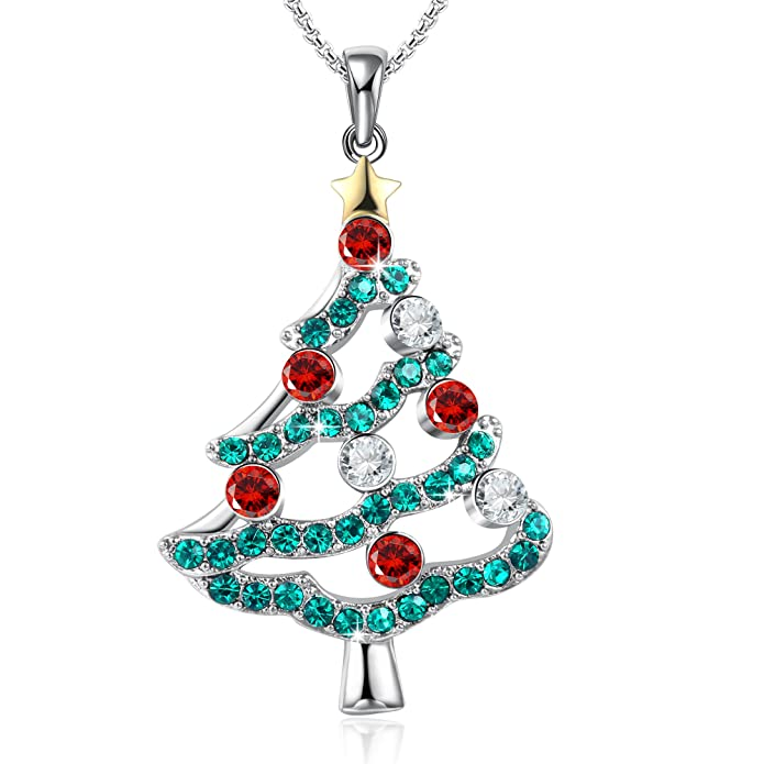 Amazon.com: GEORGE · SMITH Christmas Tree Pendant Necklace Gifts for ...