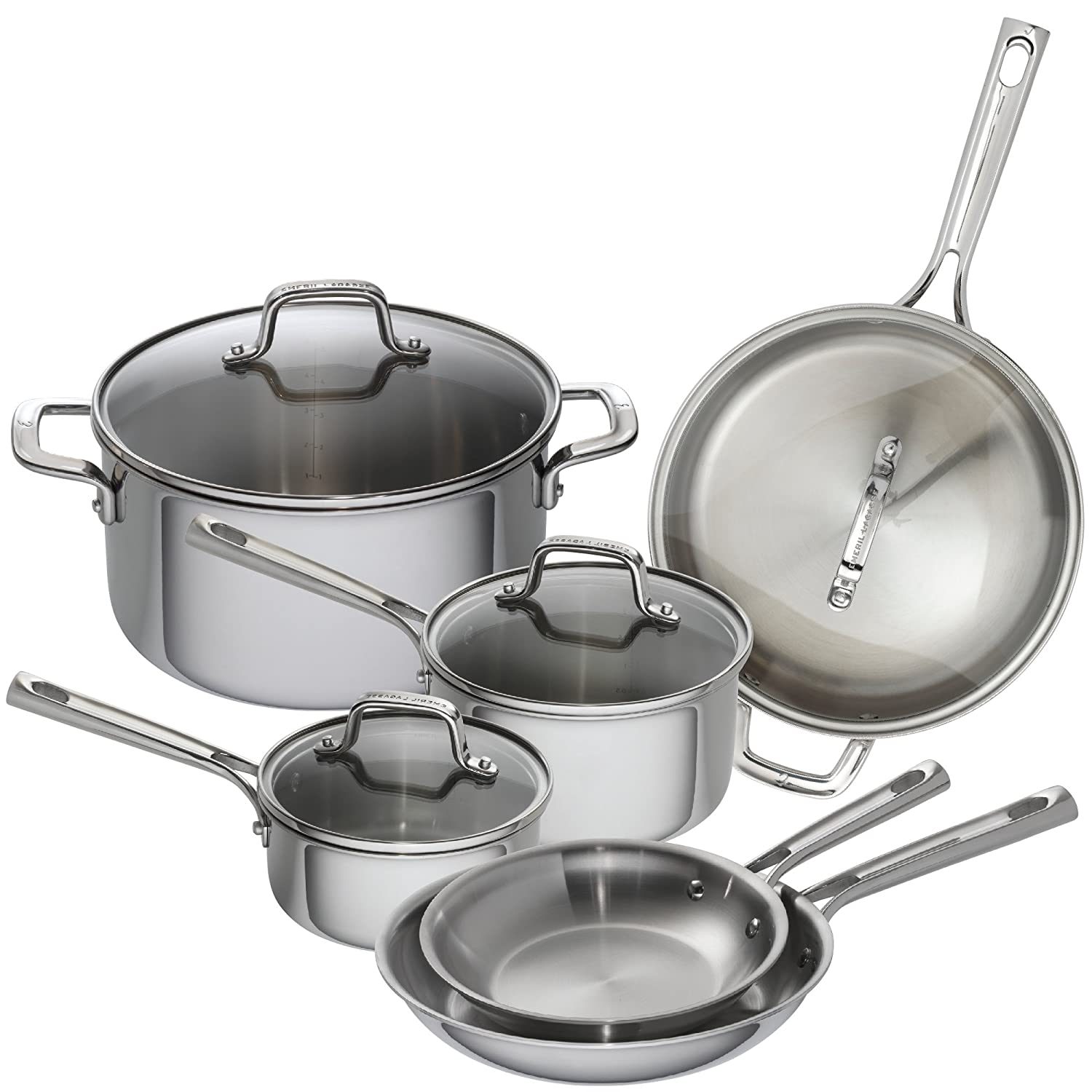 Emeril Lagasse 62851 Tri-Ply Stainless Steel Fry Pan Silver 8 8