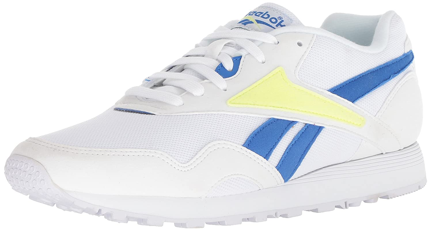 Reebok Men's Rapide B077ZMJSX4 11 M US|White/Vital Blue/Lemon Ze