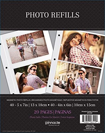 Amazoncom Pinnacle Magnetic Refill Sheets For 5 By 7 Inch Photos